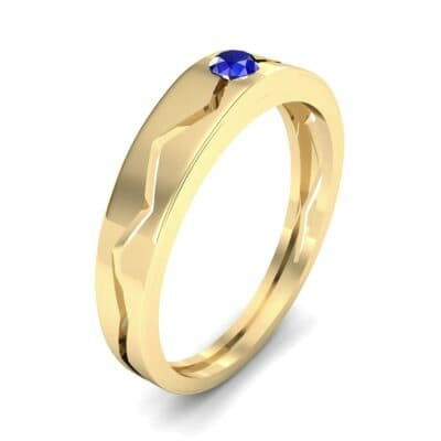 Vista Solitaire Blue Sapphire Ring (0.1 CTW) Perspective View