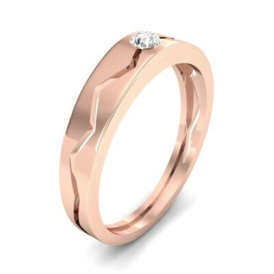 Vista Solitaire Diamond Ring (0.1 CTW) Perspective View