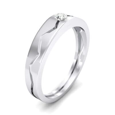 Vista Solitaire Crystal Ring (0.1 CTW) Perspective View