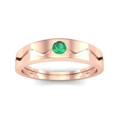 Vista Solitaire Emerald Ring (0.1 CTW) Top Dynamic View