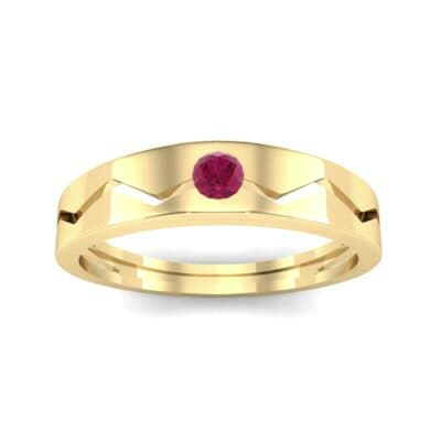 Vista Solitaire Ruby Ring (0.1 CTW) Top Dynamic View