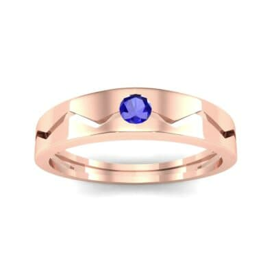 Vista Solitaire Blue Sapphire Ring (0.1 CTW) Top Dynamic View