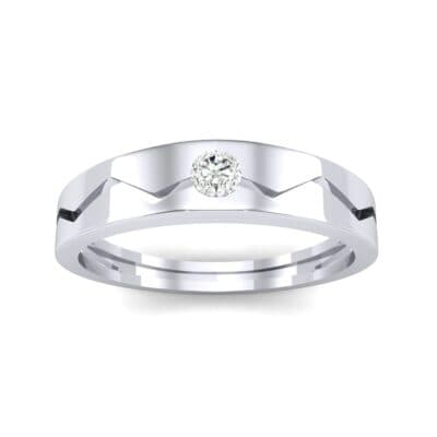 Vista Solitaire Diamond Ring (0.1 CTW) Top Dynamic View