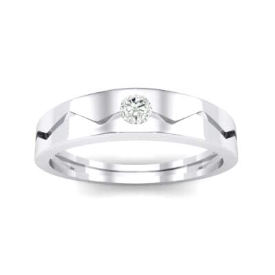 Vista Solitaire Crystal Ring (0.1 CTW) Top Dynamic View