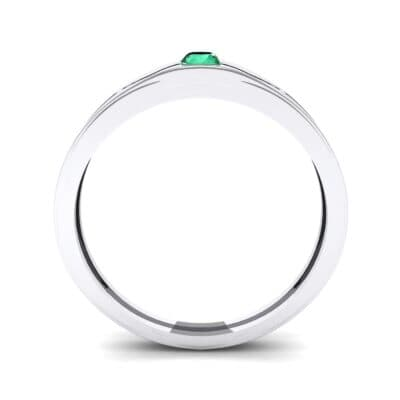 Vista Solitaire Emerald Ring (0.1 CTW) Side View