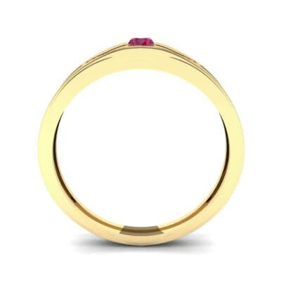 Vista Solitaire Ruby Ring (0.1 CTW) Side View