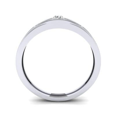 Vista Solitaire Diamond Ring (0.1 CTW) Side View