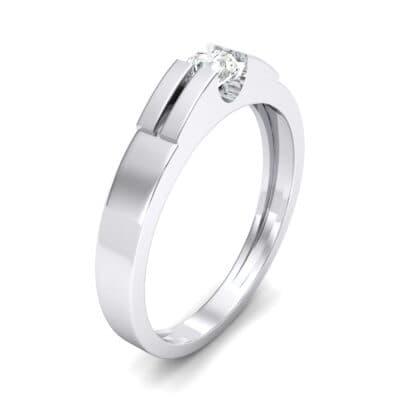 Contrast Shoulder Solitaire Diamond Engagement Ring (0.23 CTW) Perspective View
