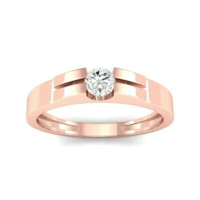 Contrast Shoulder Solitaire Diamond Engagement Ring (0.23 CTW) Top Dynamic View