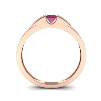 Contrast Shoulder Solitaire Ruby Engagement Ring (0.23 CTW) Side View