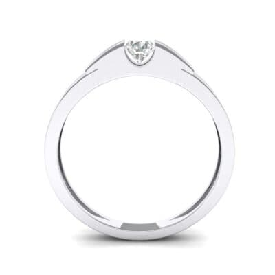 Contrast Shoulder Solitaire Diamond Engagement Ring (0.23 CTW) Side View