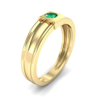 Cube Emerald Ring (0.17 CTW) Perspective View