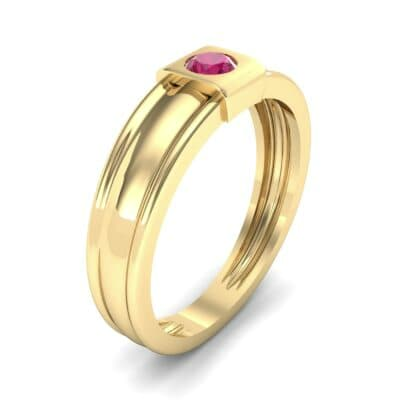 Cube Ruby Ring (0.17 CTW) Perspective View