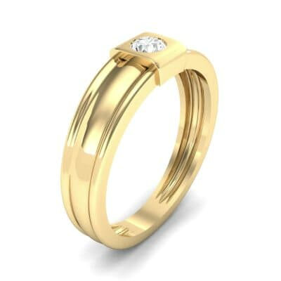 Cube Diamond Ring (0.17 CTW) Perspective View