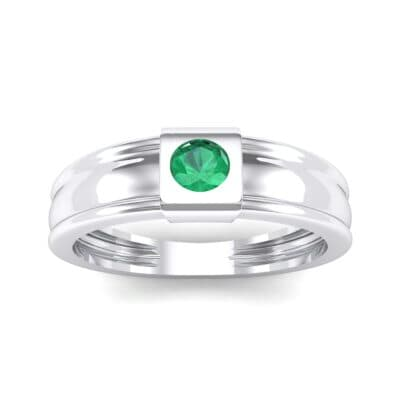 Cube Emerald Ring (0.17 CTW) Top Dynamic View