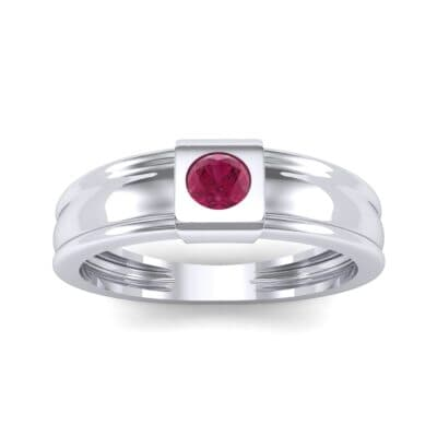 Cube Ruby Ring (0.17 CTW) Top Dynamic View