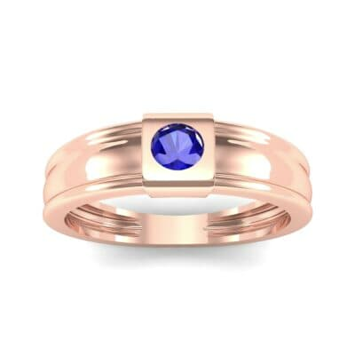 Cube Blue Sapphire Ring (0.17 CTW) Top Dynamic View