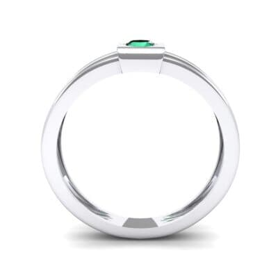 Cube Emerald Ring (0.17 CTW) Side View