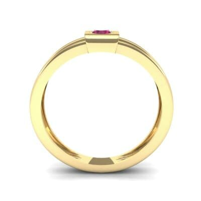 Cube Ruby Ring (0.17 CTW) Side View