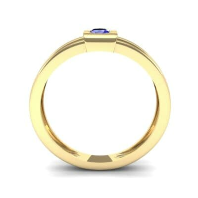 Cube Blue Sapphire Ring (0.17 CTW) Side View