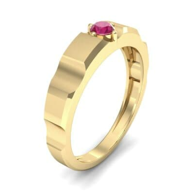 Cog Solitaire Ruby Engagement Ring (0.17 CTW) Perspective View