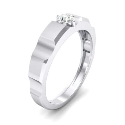Cog Solitaire Diamond Engagement Ring (0.17 CTW) Perspective View