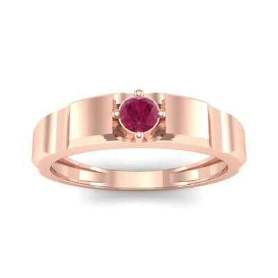 Cog Solitaire Ruby Engagement Ring (0.17 CTW) Top Dynamic View