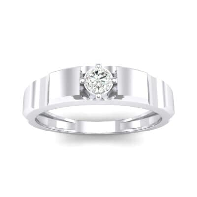 Cog Solitaire Diamond Engagement Ring (0.17 CTW) Top Dynamic View