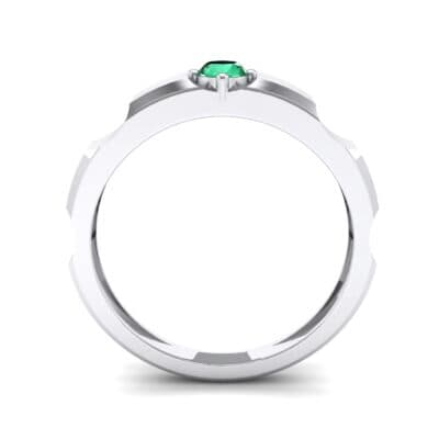 Cog Solitaire Emerald Engagement Ring (0.17 CTW) Side View