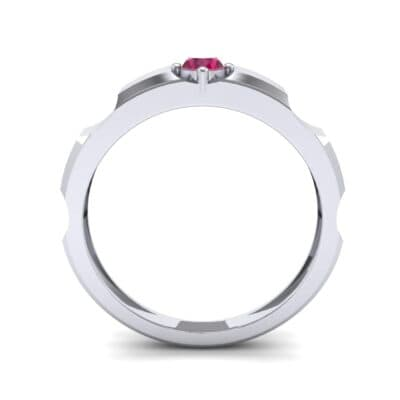 Cog Solitaire Ruby Engagement Ring (0.17 CTW) Side View