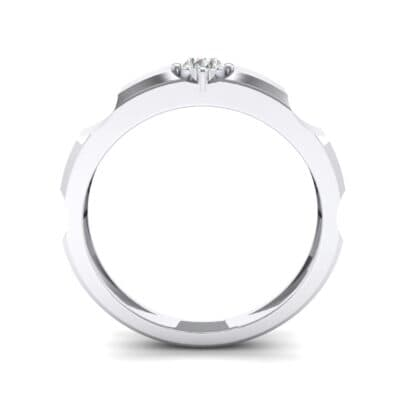 Cog Solitaire Diamond Engagement Ring (0.17 CTW) Side View