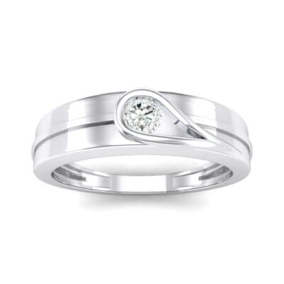 Cat-Eye Solitaire Crystal Ring (0.17 CTW) Top Dynamic View