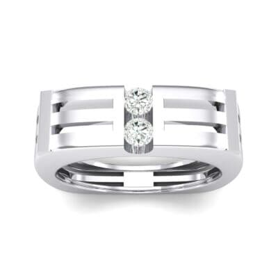 Slice Two-Stone Crystal Ring (0.22 CTW) Top Dynamic View