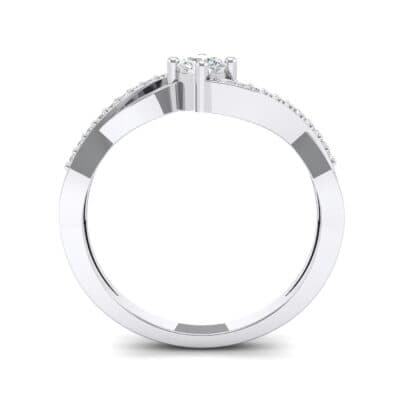Weaving Shank Solitaire Crystal Engagement Ring (0.28 CTW) Side View