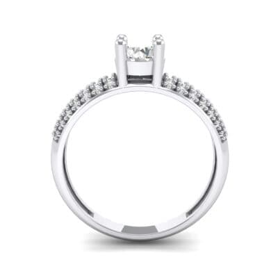 Pave Shoulder Solitaire Crystal Engagement Ring (1.21 CTW) Side View
