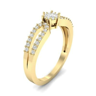 Pave Loop Shank Diamond Engagement Ring (0.29 CTW) Perspective View