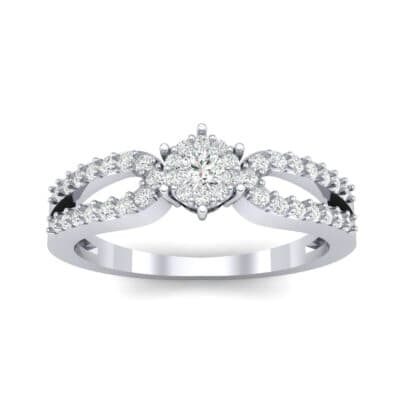 Pave Loop Shank Diamond Engagement Ring (0.29 CTW) Top Dynamic View