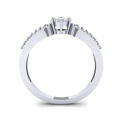 Pave Loop Shank Diamond Engagement Ring (0.29 CTW) Side View