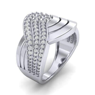 Half-Pave Harmony Diamond Ring (0.48 CTW) Perspective View