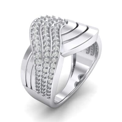 Half-Pave Harmony Crystal Ring (0.48 CTW) Perspective View