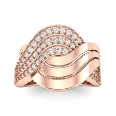 Half-Pave Harmony Diamond Ring (0.48 CTW) Top Dynamic View