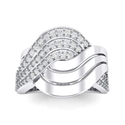 Half-Pave Harmony Diamond Ring (0.48 CTW) Top Dynamic View
