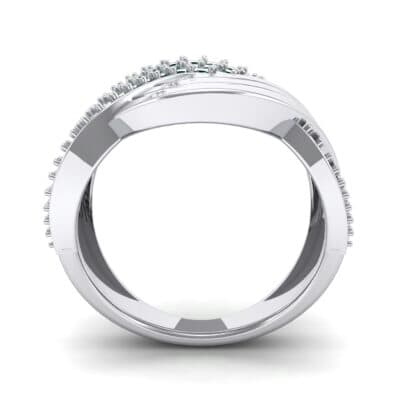 Half-Pave Harmony Emerald Ring (0.48 CTW) Side View