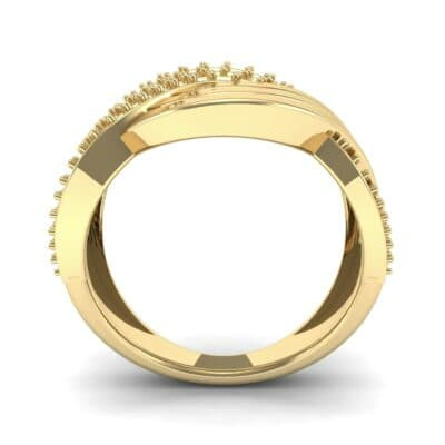 Half-Pave Harmony Diamond Ring (0.48 CTW) Side View