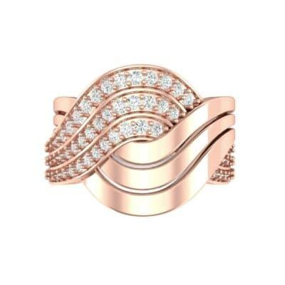 Half-Pave Harmony Diamond Ring (0.48 CTW) Top Flat View
