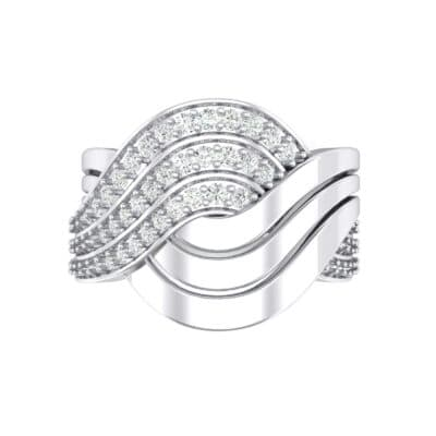 Half-Pave Harmony Crystal Ring (0.48 CTW) Top Flat View