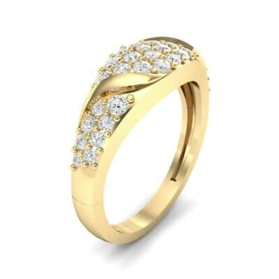 Rounded Pave Diamond Ring (0.44 CTW) Perspective View