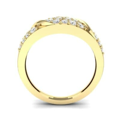 Rounded Pave Diamond Ring (0.44 CTW) Side View