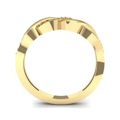 Pave Plume Ruby Ring (0.11 CTW) Side View
