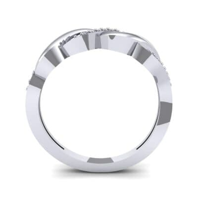 Pave Plume Diamond Ring (0.11 CTW) Side View